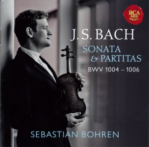 Sebastian Bohren — Bach: Sonatas and Partitas BWV 1004 - 1006 (CD cover)