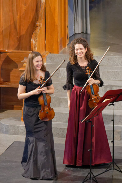 Seraina Pfenninger & Anne Battegay (Belenus Quartet) @ St.Peter, Zurich, 2021-09-05 (© Rolf Kyburz)