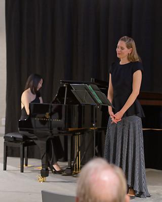 Claire Huangci, Sophie Klussmann @ Wasserkirche Zürich, 2020-09-25 (© Rolf Kyburz)