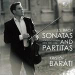J.S. Bach, Sonatas & Partitas —Kristóf Baráti (CD cover)
