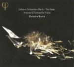 J.S. Bach, Sonatas & Partitas —Christine Busch (CD cover)