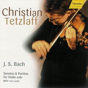 J.S. Bach, Sonatas & Partitas —Christian Tetzlaff (CD cover)