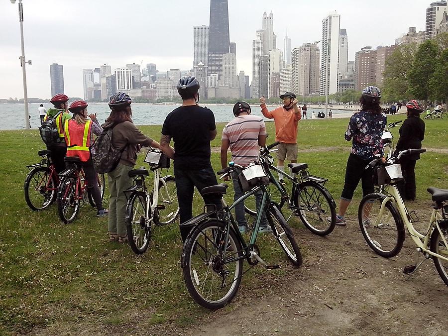 Organized bike tour group