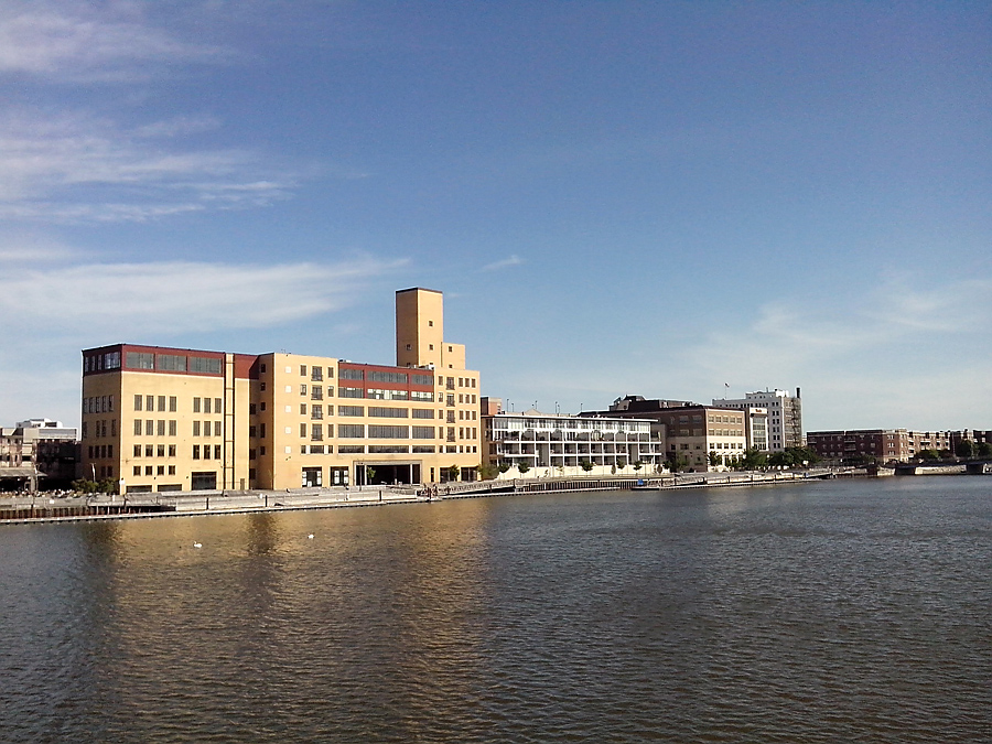 Green Bay skyline on the Fox River