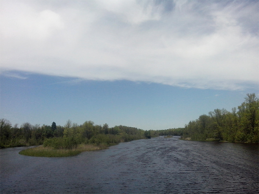 Crossing Cedar River