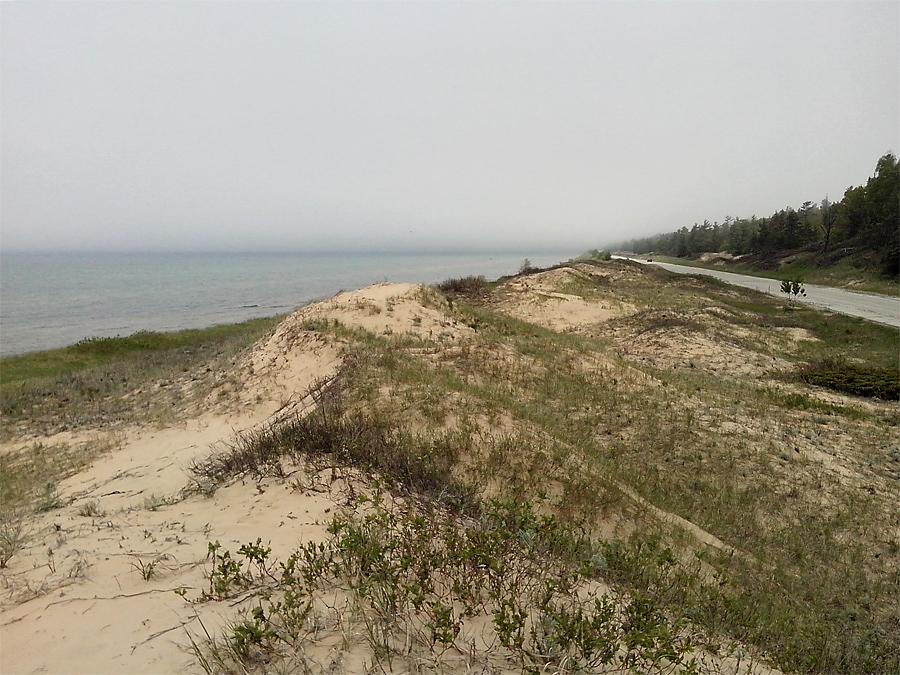Sand dunes along Hwy 2
