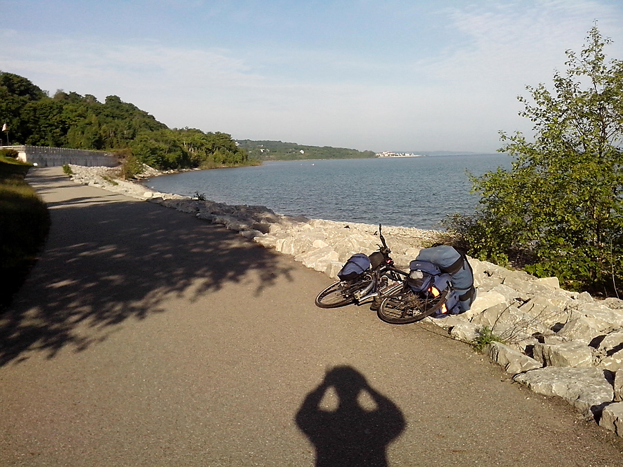 Leaving Petoskey on Little Traverse Wheelway