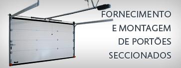Fornecimento e montagem de Portões Seccionados