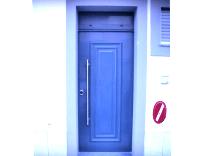 Porta Blindada Exterior com Bandeira Superior