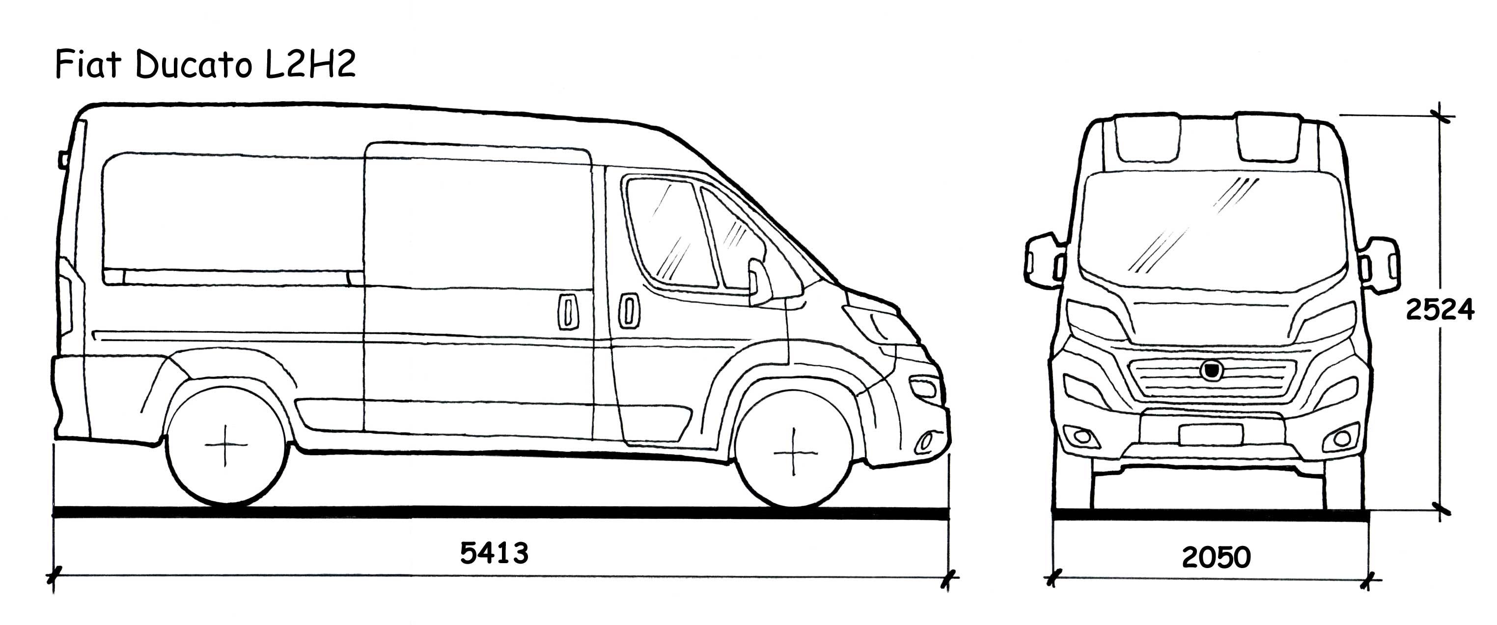 Fiat ducato l2h2 dimensioni