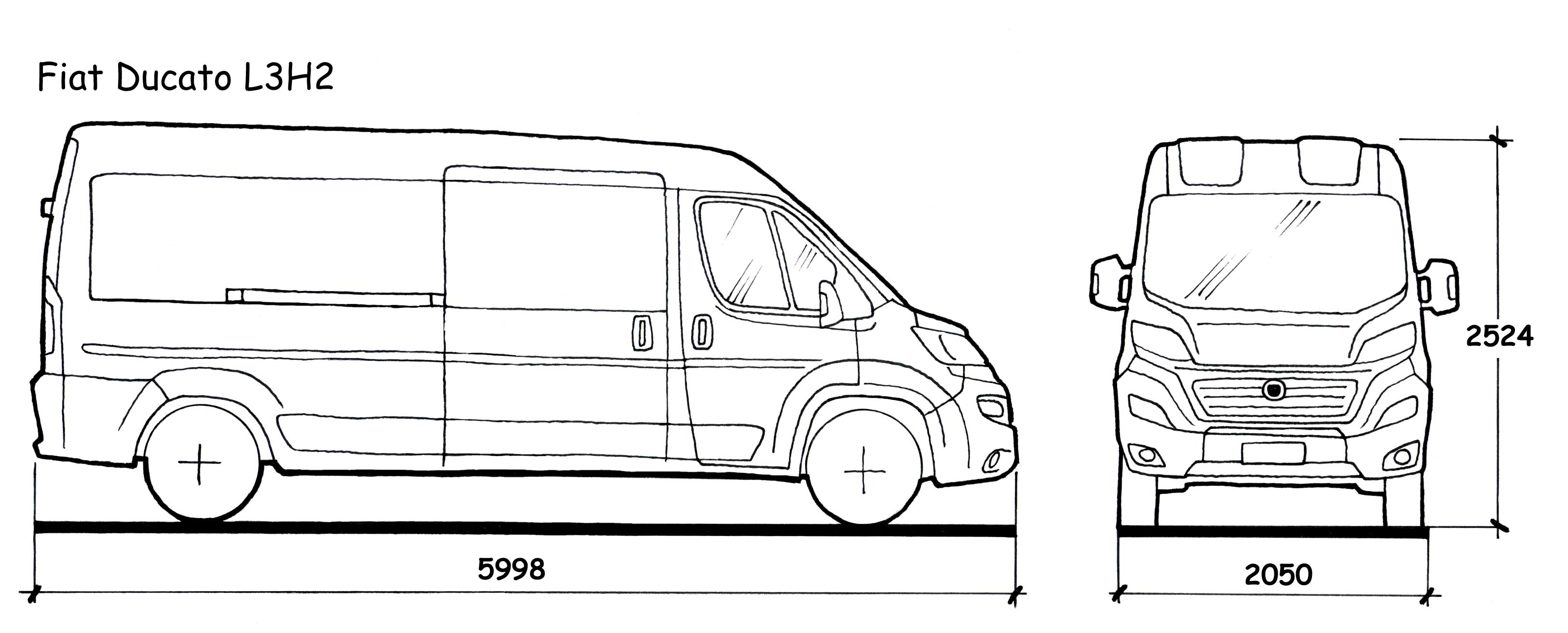Peugeot Boxer Dimensions. the vector drawing peugeot boxer