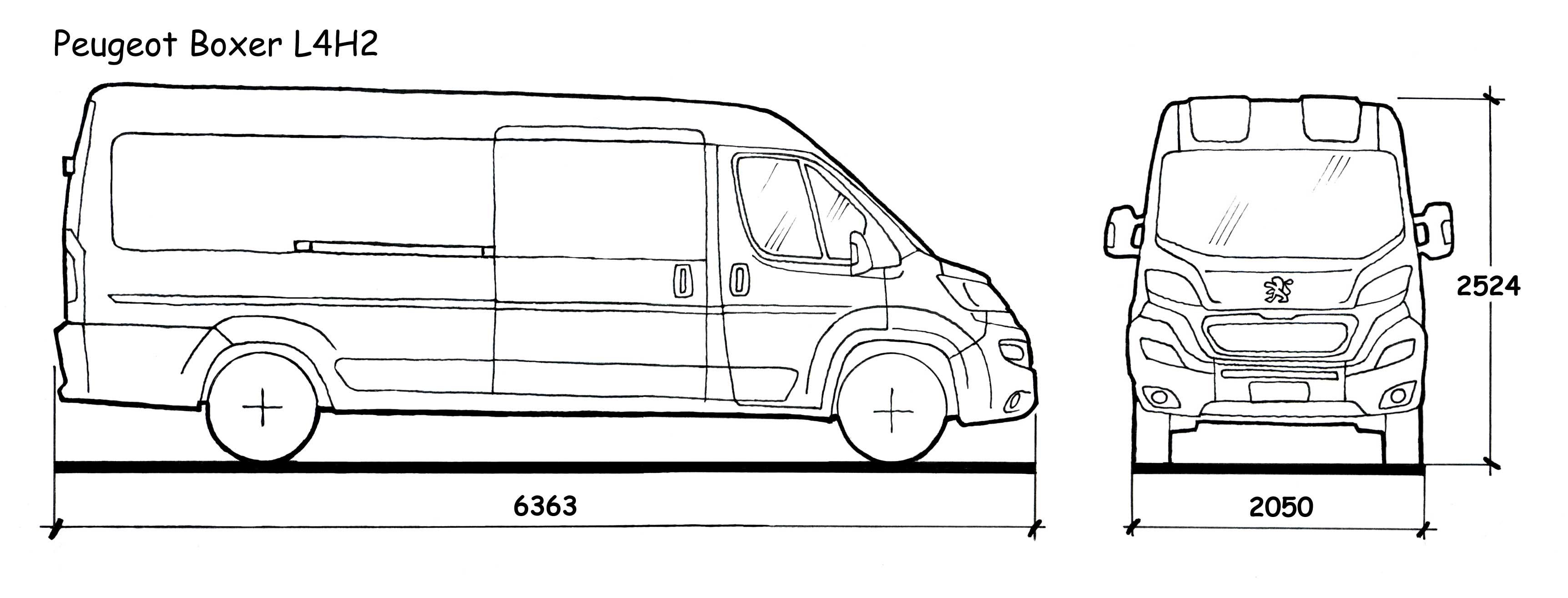 Peugeot Boxer Dimensions Interieures. informations sur le