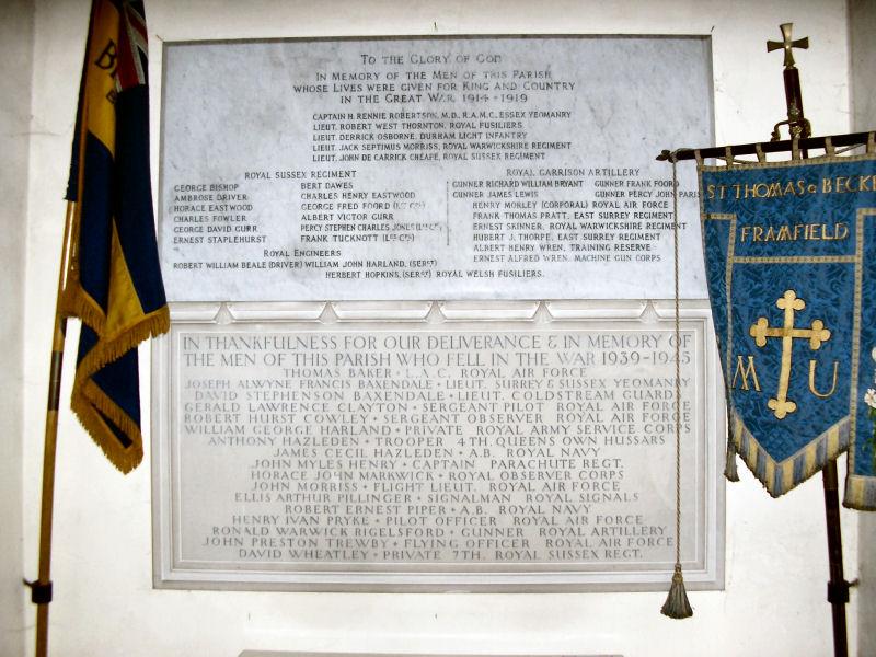 Framfield War Memorial