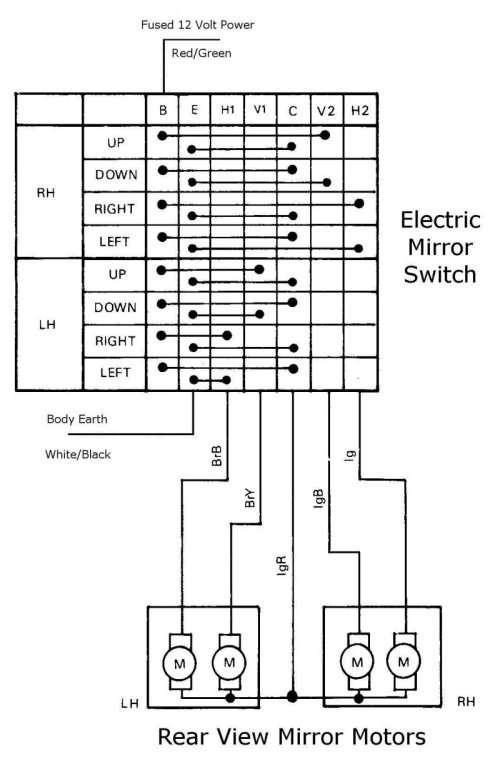 power mirror wiring diagram power image wiring diagram 4age wiring diagram wiring diagram on power mirror wiring diagram