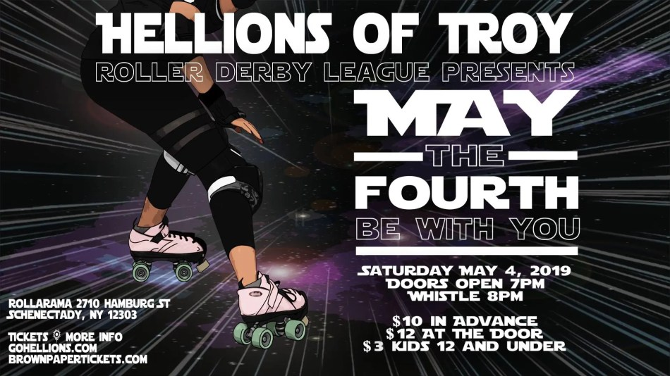 Reading Derby Girls bout with Hellions of Troy