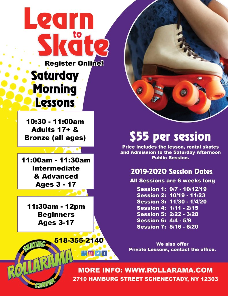 Learn to Skate Class flyer