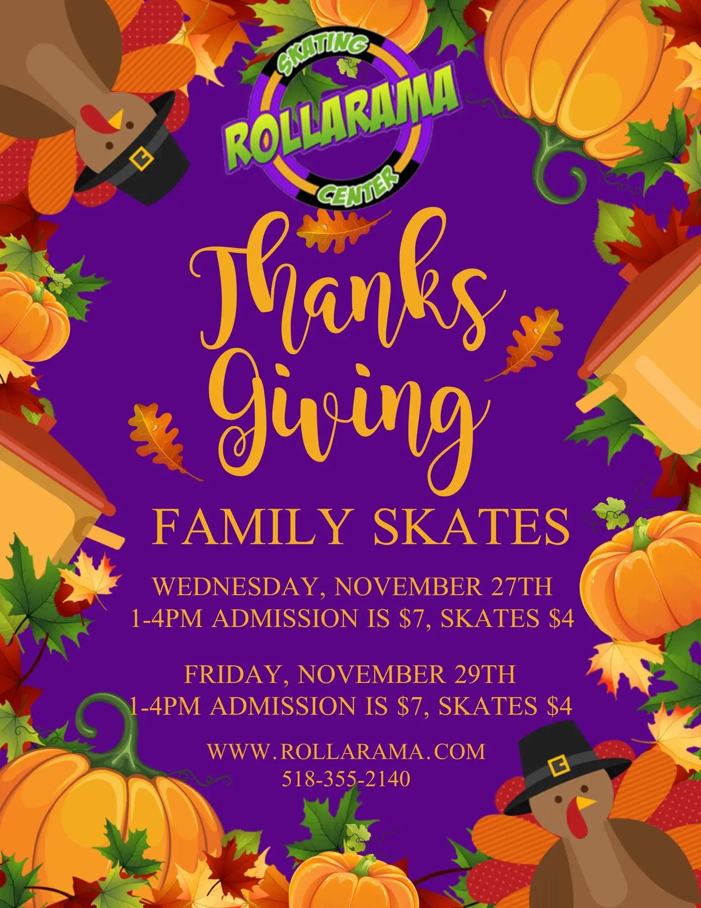 Thanksgiving Break Skates at Rollarama