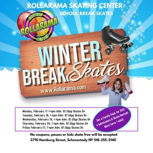 Winter Break Skate Times flyer