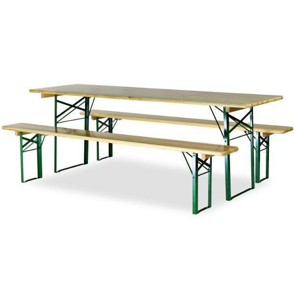 ensemble bancs et table de brasserie avec pieds profiles