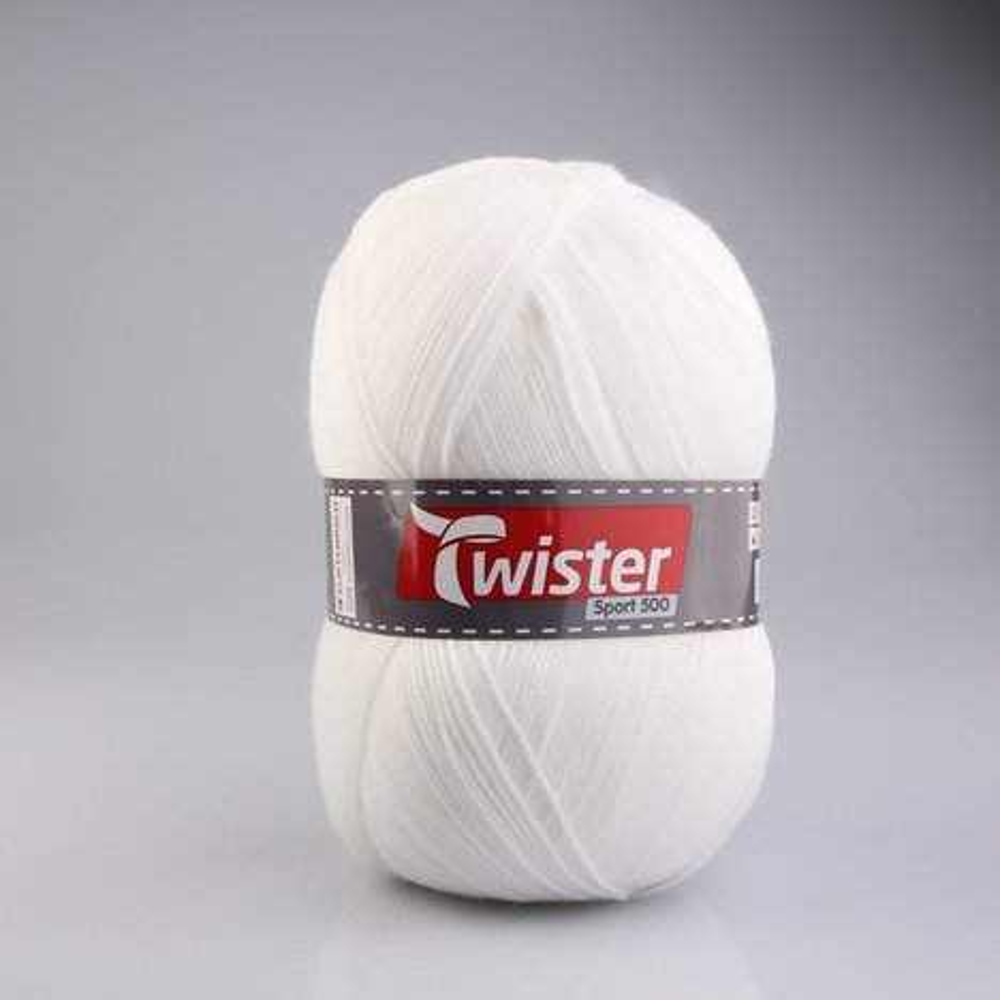 Wolle TWISTER SPORT 500 UNI  wei  500g  Online bei