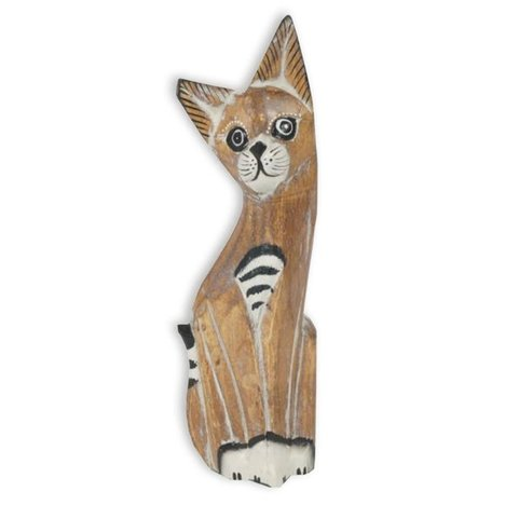 Dekofigur  Katze  Holz  handgeschnitzt  15 cm  Online bei ROLLER kaufen