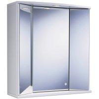 Spiegelschrank   weiß   mit Beleuchtung   65 cm breit ...