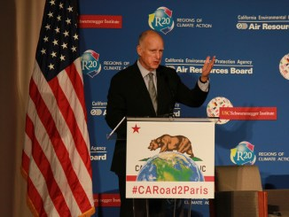 Jerry Brown fights back Trump climate change