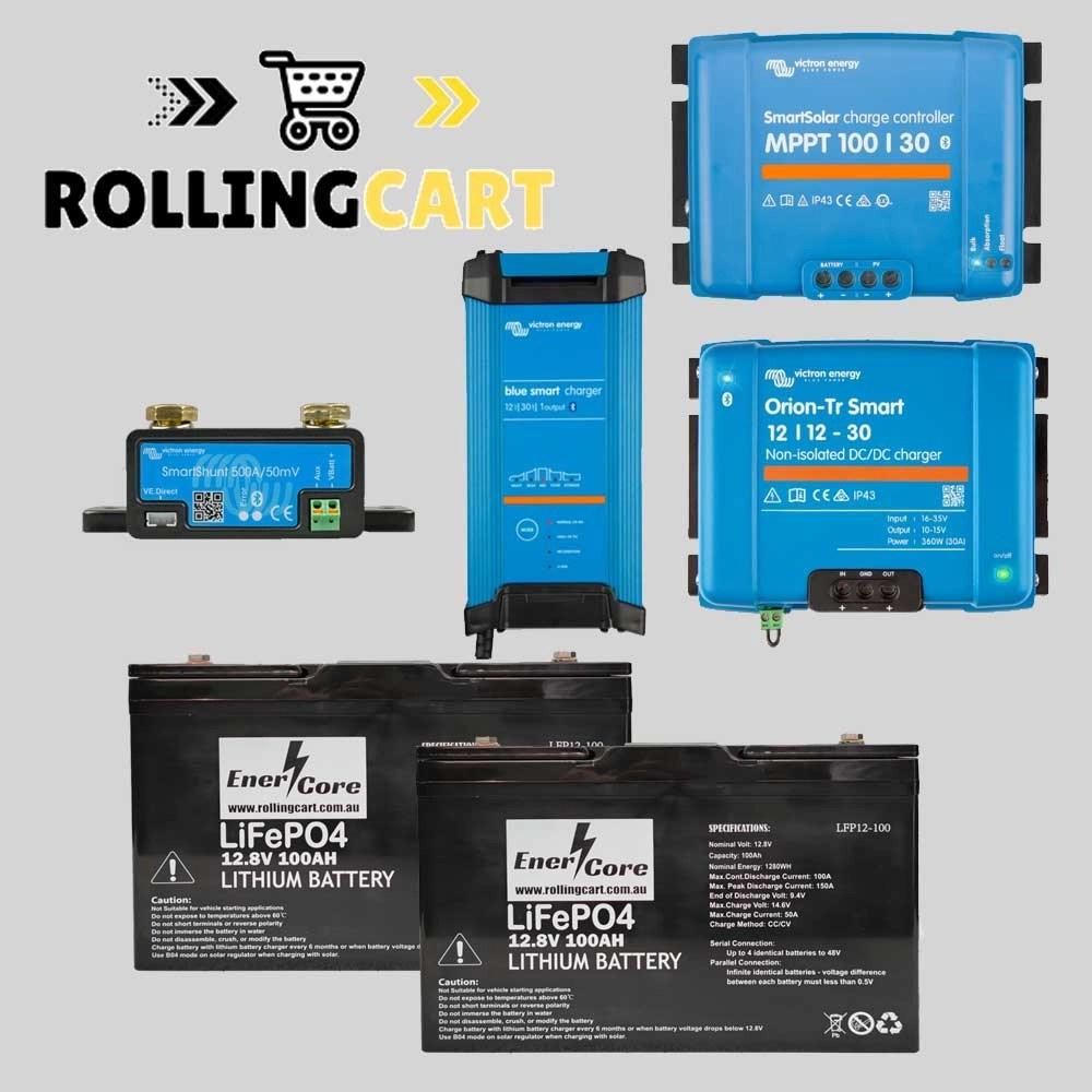 Rolling-Cart-12V-200Ah-Caravan-Kit