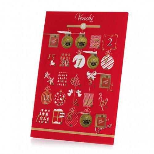 calendario dell'avvento con cioccolato