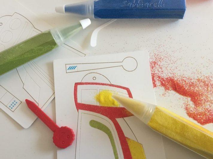Colorare Costruire E Giocare Con Sabbiarelli Pocket Kit Galaxy