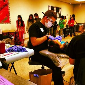 San Antonio dentist Dr Dougherty volunteering