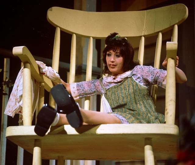 Lily Tomlin Sits In An Oversize Chair As The Character Edith Ann In Her First Television Special Lily Filmed October Nd