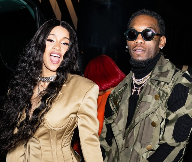 New York Ny February  Recording Artists Cardi B And Offset Of The
