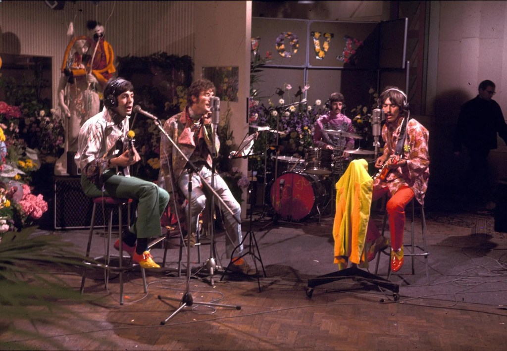 THE BEATLES AT ABBEY ROAD STUDIOS FOR THE ' OUR WORLD ' LIVE TELEVISION BROADCAST - 1967The Beatles at Abbey Road Studios for the 'Our World' live television broadcast, London, Britain - 25 June 1967