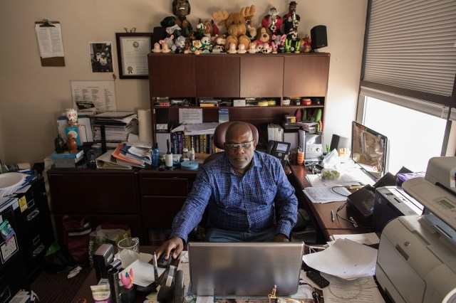 ANCHORAGE, ALASKA --Tuesday, July 31, 2018: Ron Green, Clinical Director at Center for Drug Problems in Anchorage, Alaska, works in his office. Green says that the use of methamphetamine is the next opiod epidemic, and that the crisis needs to be taken seriously. Green, who once struggled with a substance abuse disorder, has been sober for 30 years./ASH ADAMS