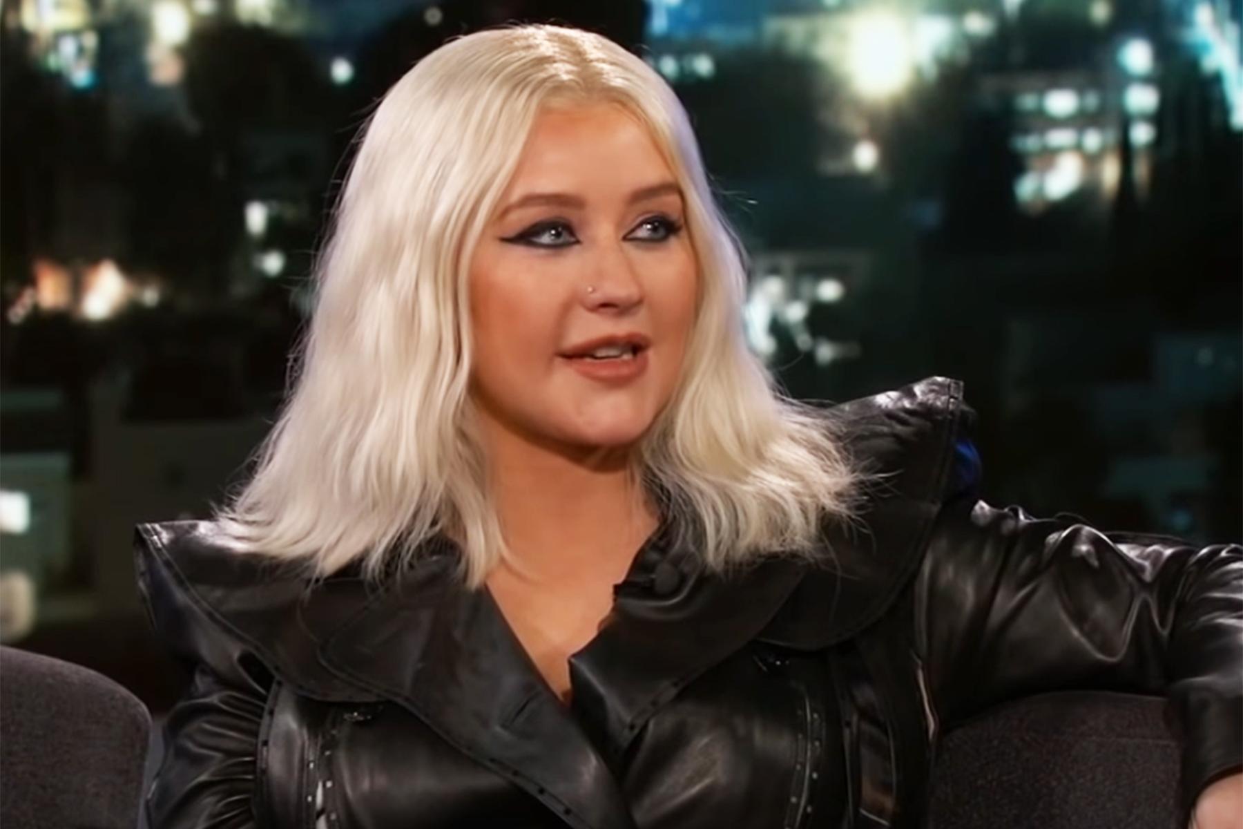 Christina Aguilera Talks Britney Spears Rivalry On Kimmel