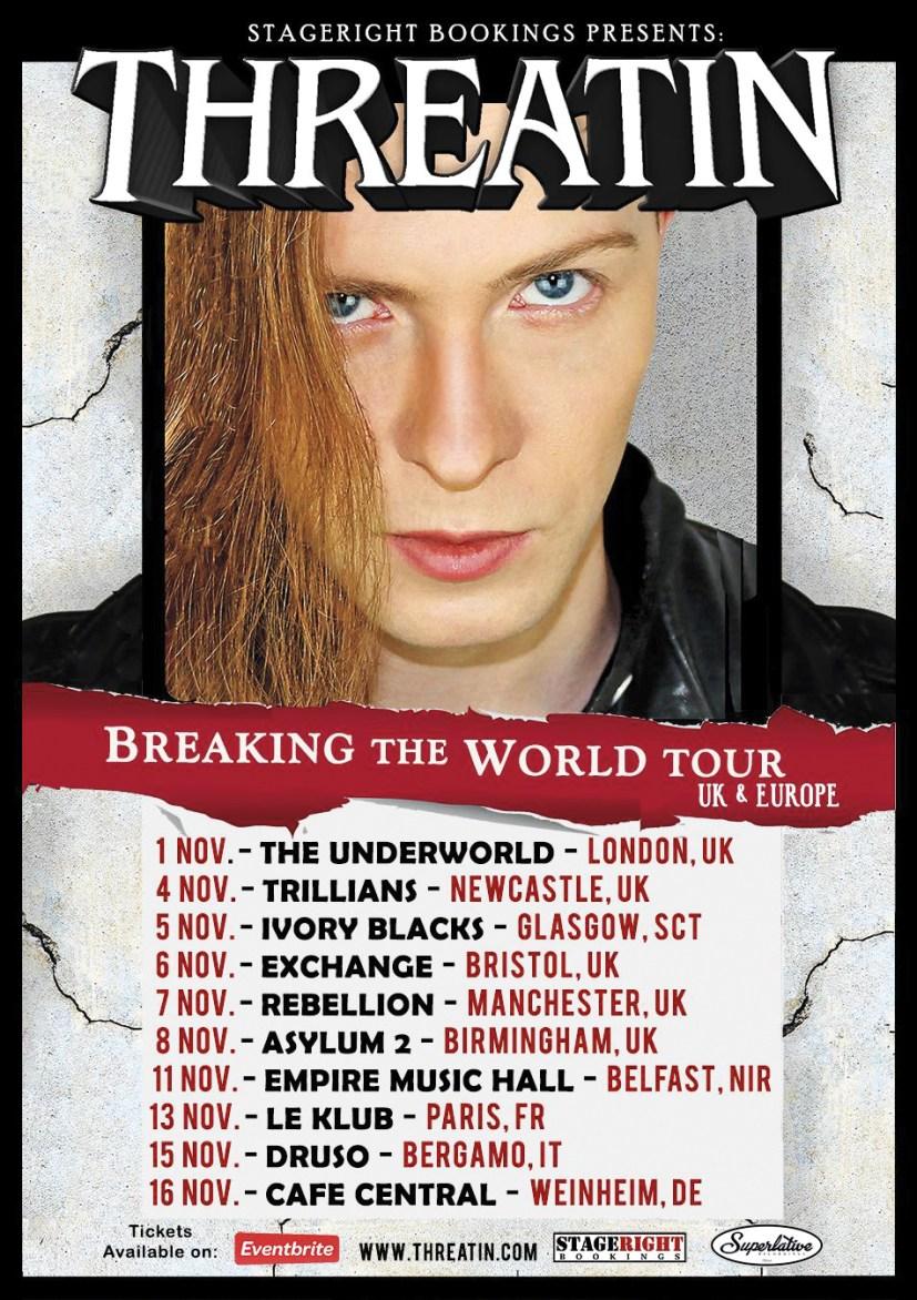 Threatin, Breaking the World Tour poster