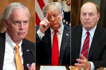 Senator Ron Johnson, Donald Trump and Senator Richard Shelby.