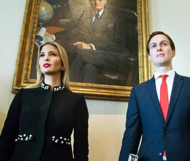 White House Senior Advisor Jared Kushner R And First Daughter Ivanka Trump L