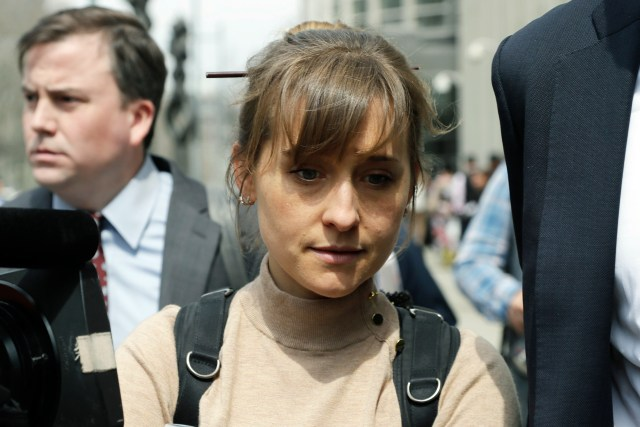 Actress Allison Mack leaves Brooklyn federal court, in New York. Mack pleaded guilty to racketeering charges on Monday in a case involving a cult-like group based in upstate New York. The trial is expected to detail sensational allegations that the group, called NXIVM, recruited sex slaves for its spiritual leader, Keith RaniereBranded Women, New York, USA - 08 Apr 2019