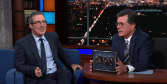 Watch John Oliver Talk 'Lion King' and Not Meeting Beyonce on 'Colbert'