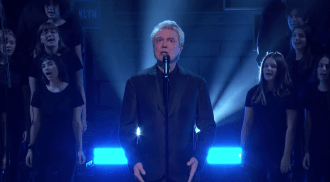 Watch David Byrne Perform 'One Fine Day' With Brooklyn Youth Chorus on 'Kimmel'