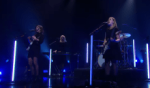 See Sleater-Kinney's Raucous Performance of 'Can I Go On' on 'Corden'