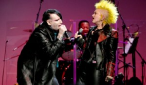 See Cyndi Lauper Duet With Marilyn Manson, Henry Rollins, Kesha at Benefit Gig