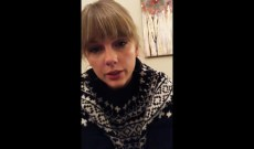 Taylor Swift Asks Her Cats If She Should Release a Christmas Song