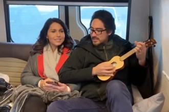 Tulsi Gabbard Pays Tribute to John Lennon With Ukulele Cover of 'Imagine'
