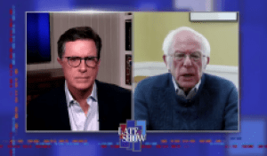 Stephen Colbert Questions Bernie Sanders About Biden Endorsement