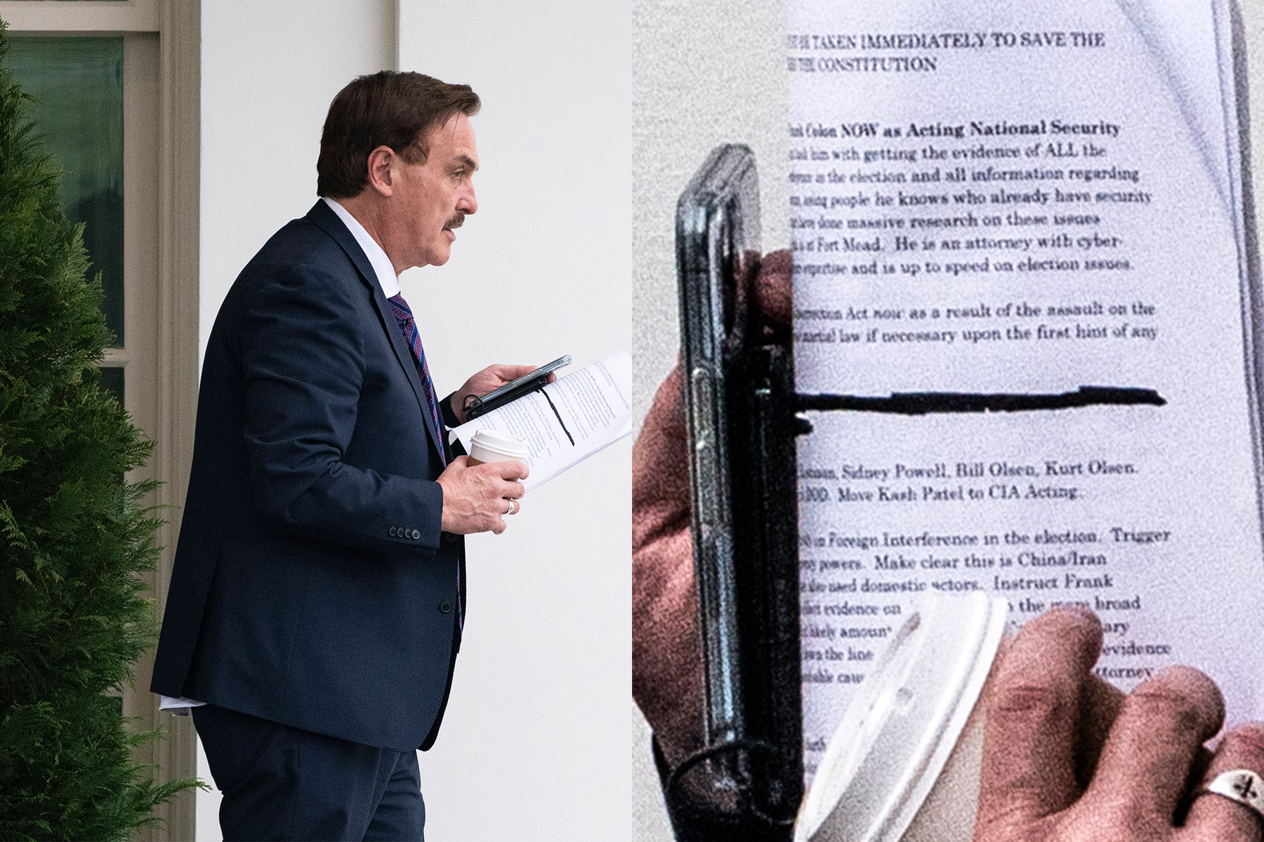 trump calls in mike lindell mypillow