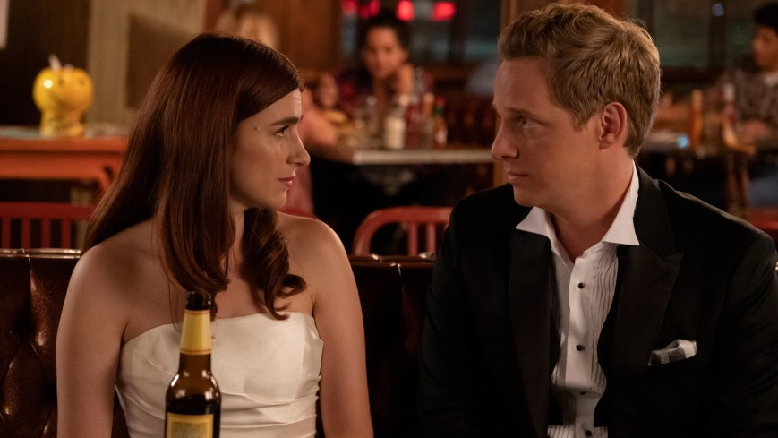 """YOU'RE THE WORST -- """"Pancakes"""" - Season 5, Episode 13 (Airs April 3, 10:00 pm e/p) Pictured (l-r): Aya Cash as Gretchen, Chris Geere as Jimmy. CR: Byron Cohen/FXX"""