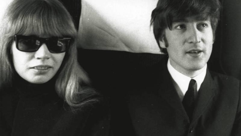 Astrid Kirchherr with John Lennon from the Beatles